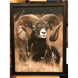 """MOUNTAIN RAM""  ON CANVAS BY CLINT EAGER"
