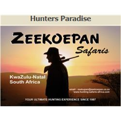 5 DAYS 2 HUNTERS  KWAZULU NATAL PROVINCE SOUTH AFRICA
