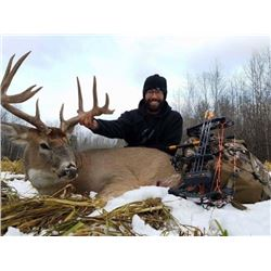 SASKATCHEWAN BIG WHITETAIL BUCK HUNT FOR ONE HUNTER 7 DAYS