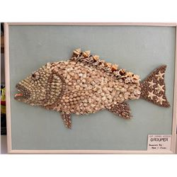 FISH ART HAND MADE WITH SHELLS