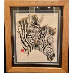 Original Zebra Painting in Acrylics