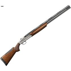 Benelli 828U nickel plated, 12 ga., over/under shotgun supporting Humanitarian Services