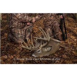 "Xtreme World Class Whitetails of OH 3-day/3-night, SCI 180""-200"" class Whitetail Hunt for 2 hunters"