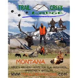 5-day Montana Backcountry Elk Hunt for 1 hunter