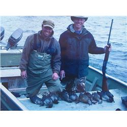 5-day/5-night Alaska Duck Hunt and Fishing Trip for One Person