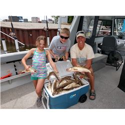 4-person, 6-hour, walleye fishing charter