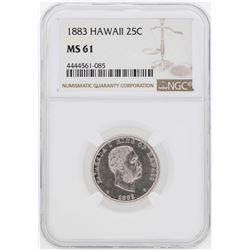 1883 Kingdom of Hawaii Quarter Coin NGC MS61