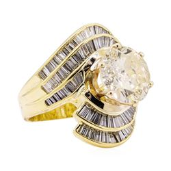7.51 ctw Diamond Ring - 18KT Yellow Gold