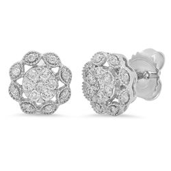 14k Gold 0.37CTW Diamond Earrings, (I1-I2/H-I)