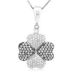 18k White Gold 0.53CTW Diamond Pendant, (SI1 /G-H)