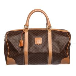 Celine Canvas Leather Macadam Duffle Bag