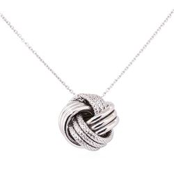 Love Knot Necklace - 14KT White Gold