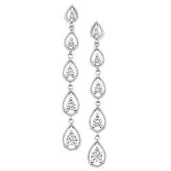 14k White Gold 0.65CTW Diamond Earrings, (I1 /G-H)
