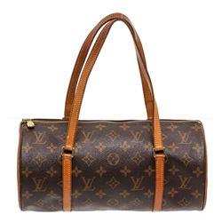 Louis Vuitton Monogram Canvas Leather Papilon 26 cm Shoudler Bag