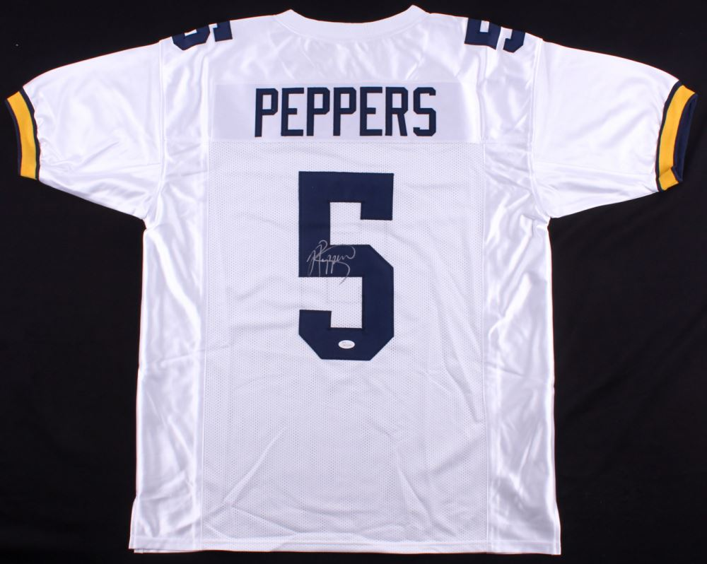 newest fb904 770bc Jabrill Peppers Signed Michigan Wolverines Jersey (JSA COA)