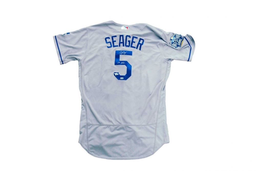on sale f7a6d e62bc Corey Seager Signed Dodgers 2016 All Star Game Jersey ...