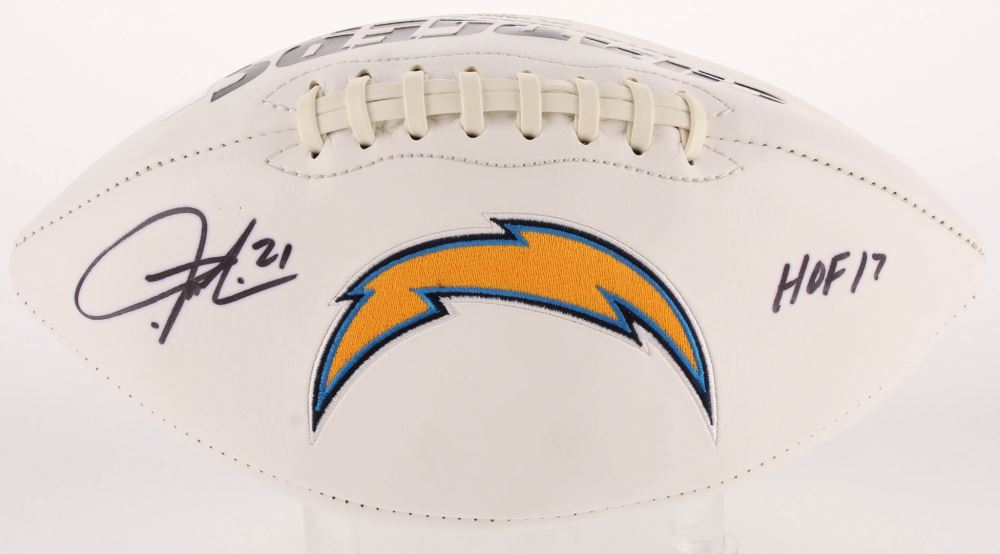 check out 26f95 ca1f8 LaDainian Tomlinson Signed Chargers Logo Football Inscribed