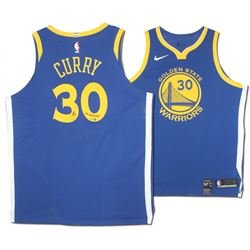 newest a8ab8 ca922 Stephen Curry Signed Warriors Limited Edition Nike Jersey ...