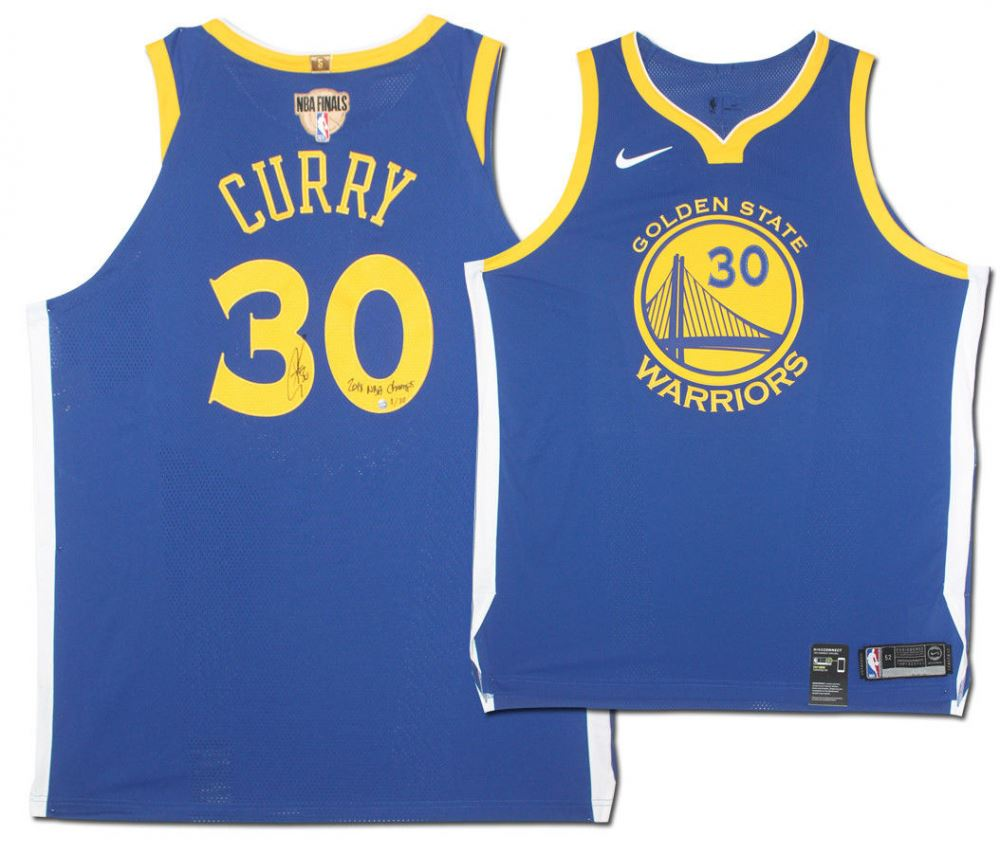 newest dd645 6aad3 Stephen Curry Signed Warriors Limited Edition Nike Jersey ...