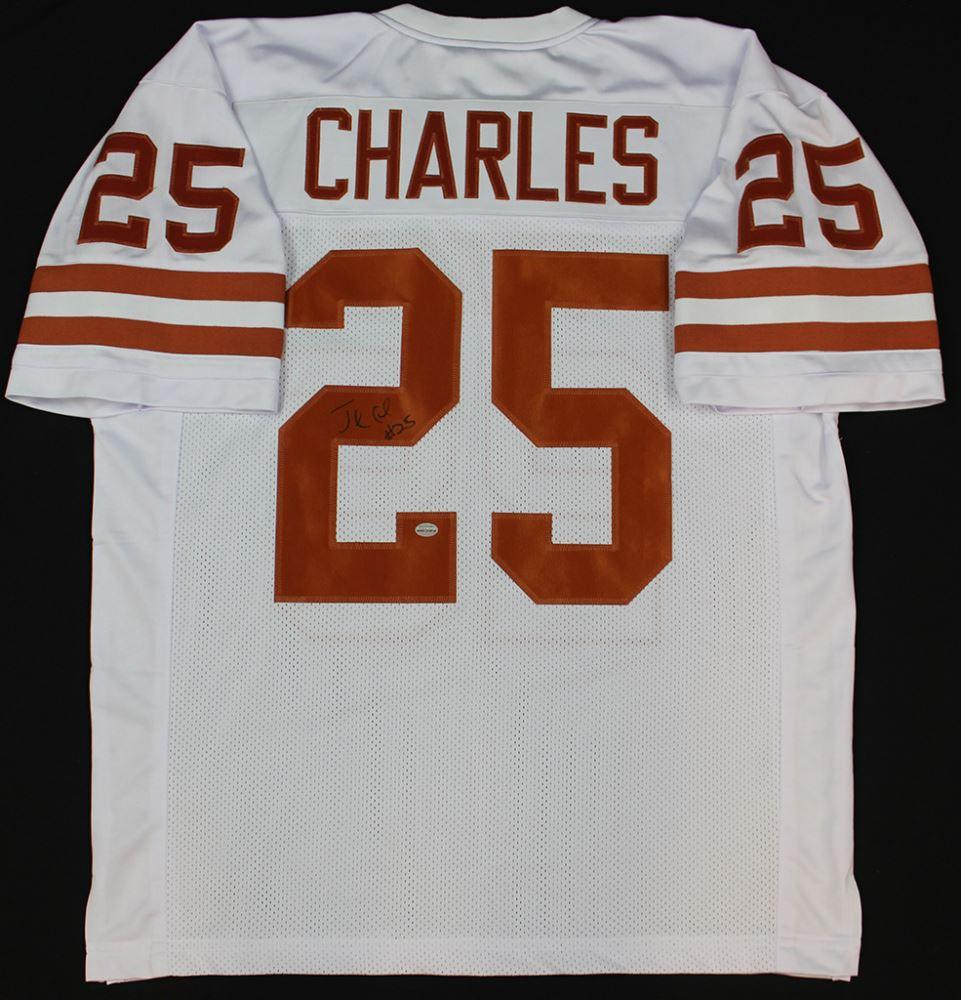Jamaal Charles Signed Texas Longhorns Jersey (GTSM COA ...