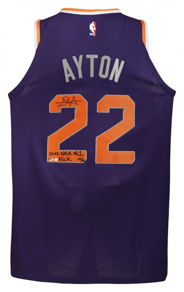 hot sale online 66598 b14cd Deandre Ayton Signed LE Suns Nike Authentic Jersey Inscribed