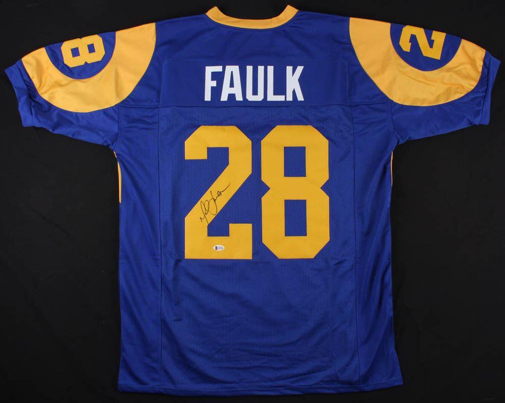 wholesale dealer 87660 f6c5f Marshall Faulk Signed St. Louis Rams Jersey (Beckett COA)
