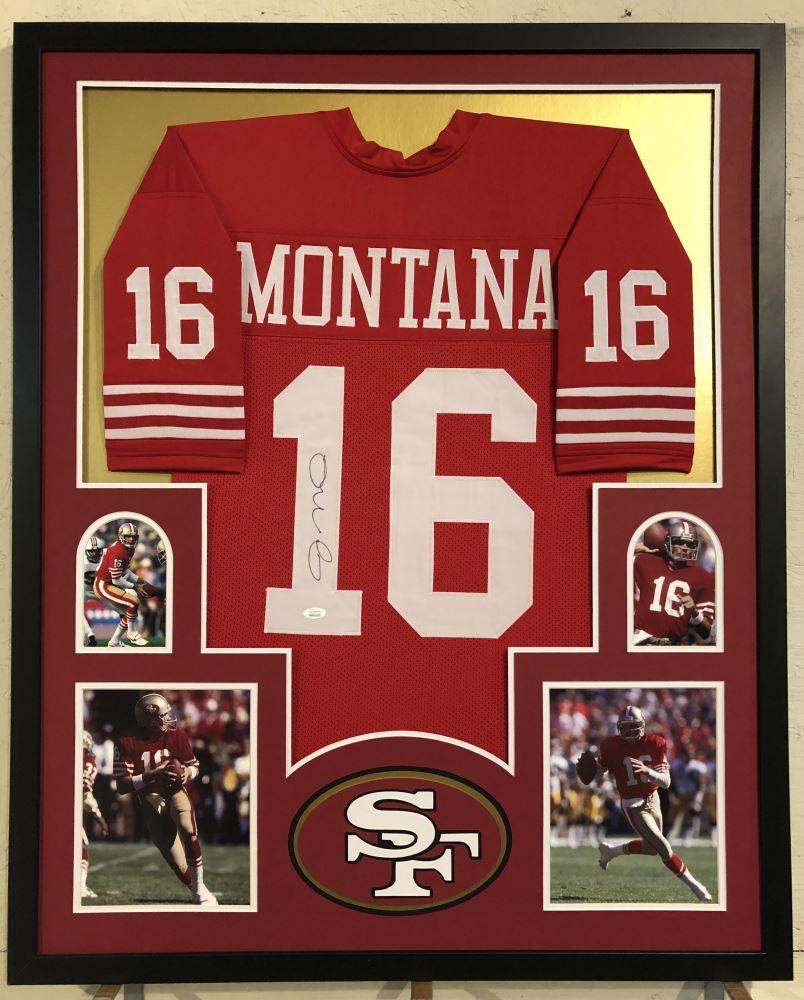 timeless design 200d5 1dc78 Joe Montana Signed San Francisco 49ers 35x43 Custom ...