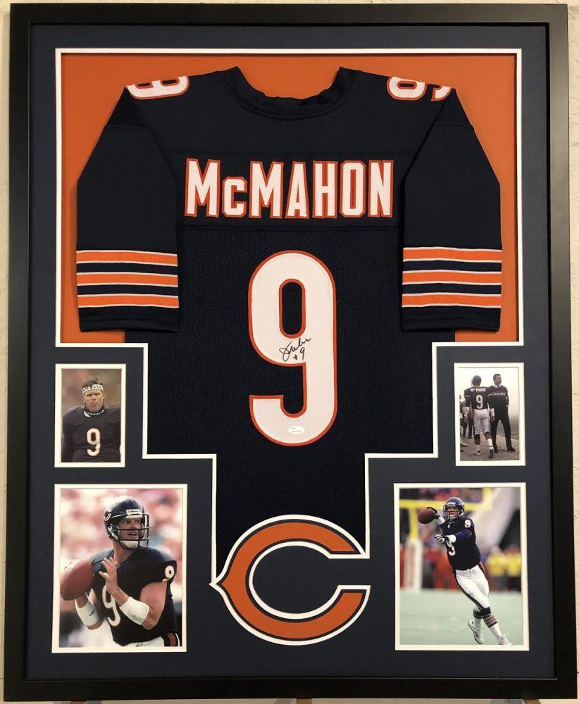 timeless design ec50d 8e85e Jim McMahon Signed Chicago Bears 35x43 Custom Framed ...
