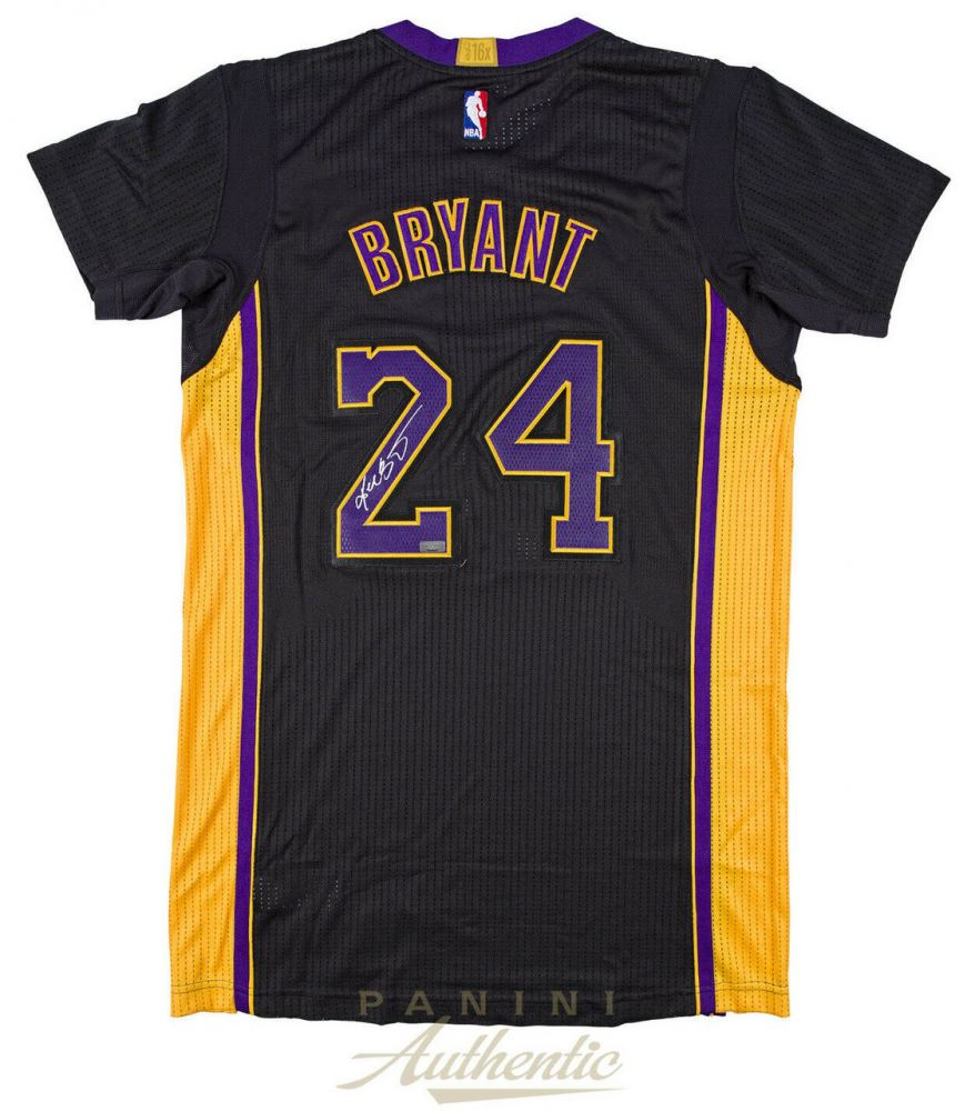 quality design 7870e d1b2f Kobe Bryant Signed Los Angeles Lakers Authentic Adidas ...