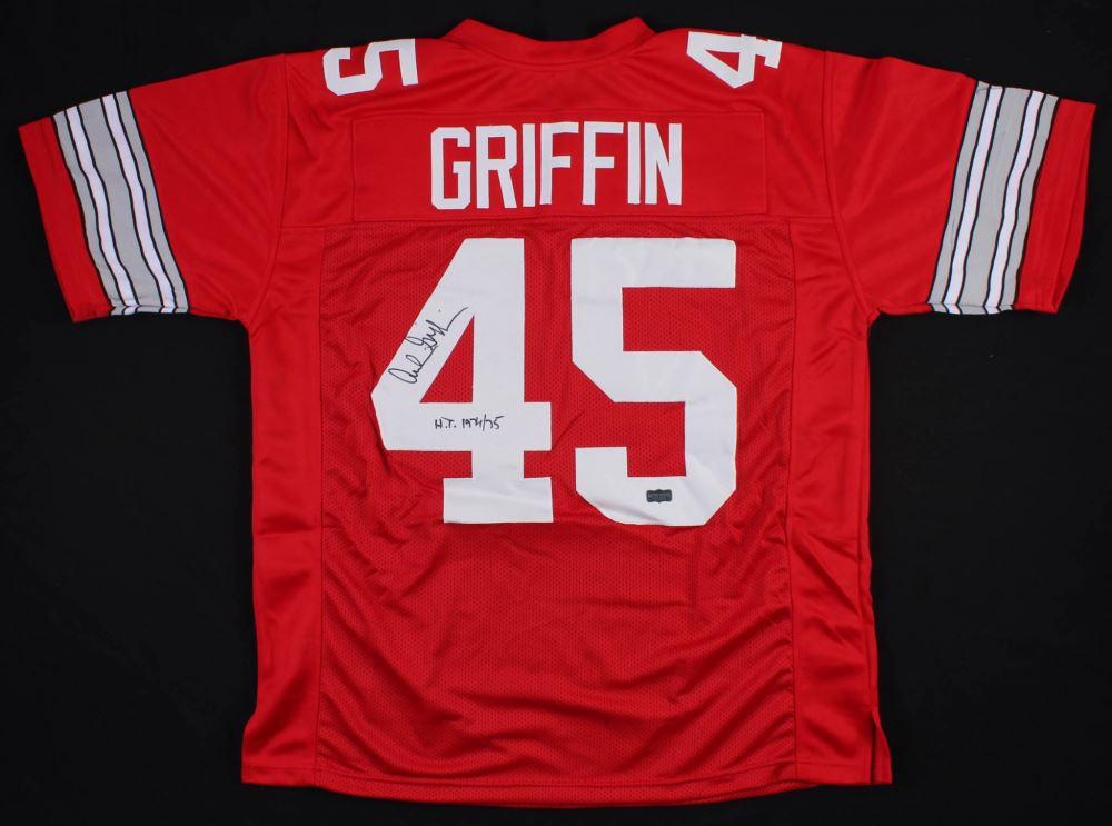 quality design 0273f 43e33 Archie Griffin Signed Ohio State Buckeyes Jersey Inscribed ...