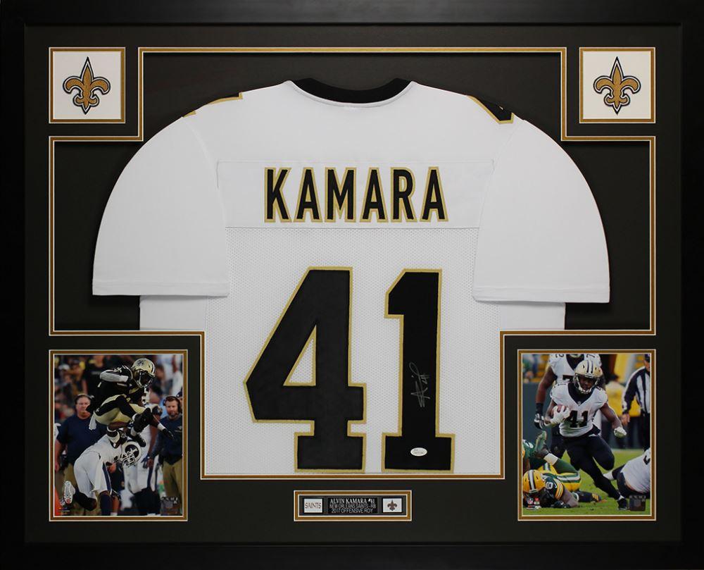 new style ef51b 92888 Alvin Kamara Signed New Orleans Saints 35x43 Custom ...