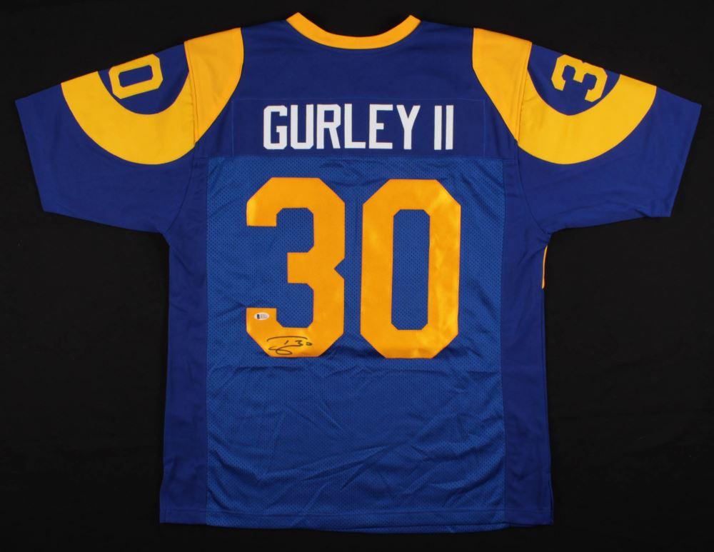 wholesale dealer 72f10 d7c22 Todd Gurley II Signed Los Angeles Rams Jersey (Beckett COA)
