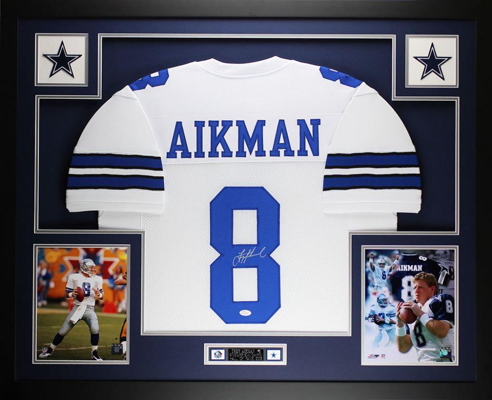 watch 9eb84 5da06 Troy Aikman Signed Dallas Cowboys 35x43 Custom Framed ...