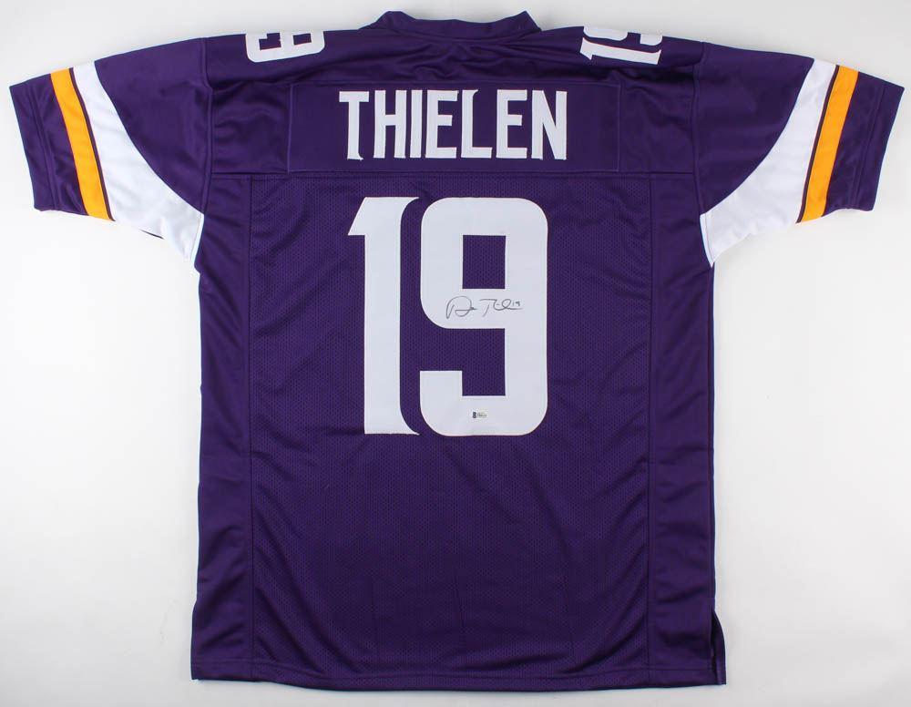 innovative design 51165 0e1fb Adam Thielen Signed Minnesota Vikings Jersey (Beckett COA)