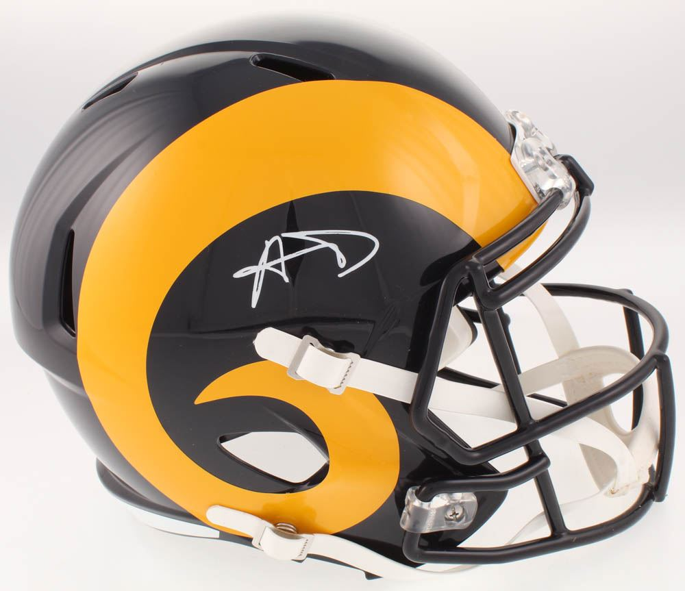 factory price bb299 81f7e Aaron Donald Signed Los Angeles Rams Full-Size Speed ...