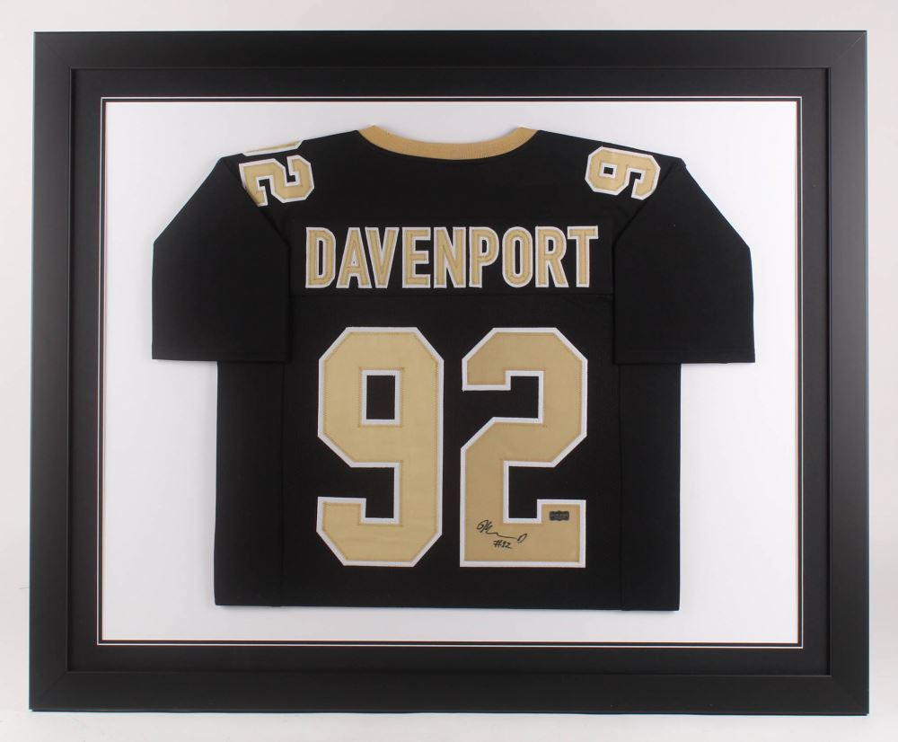 free shipping 0c96c 8756c Marcus Davenport Signed New Orleans Saints 35.5x43.5 ...