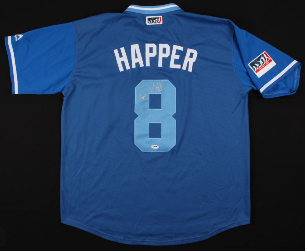 sports shoes d36cd 1de07 Ian Happ Signed Chicago Cubs Player's Weekend Jersey ...