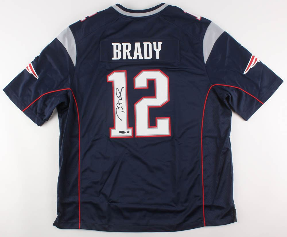 best cheap b3254 c4862 Tom Brady Signed New England Patriots Jersey (Steiner COA ...