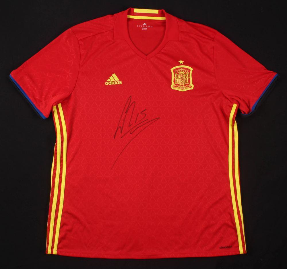 new products 62e7d 9e3ba Sergio Ramos Signed Spain Jersey (Beckett COA)