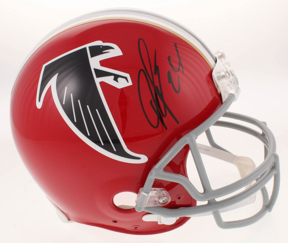 san francisco fc71b f0770 Devonta Freeman Signed Atlanta Falcons Throwback Full ...