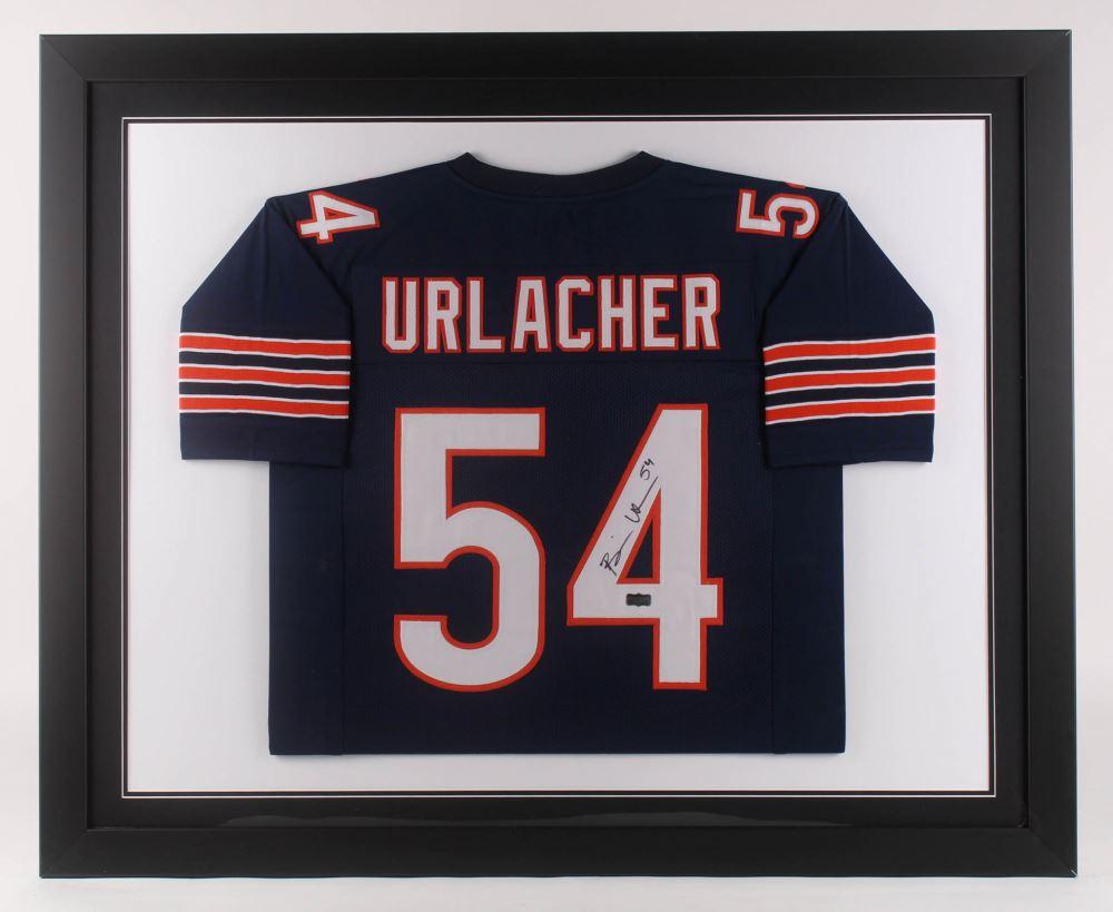 super popular 04062 2c134 Brian Urlacher Signed Chicago Bears 35.5x43.5 Custom ...