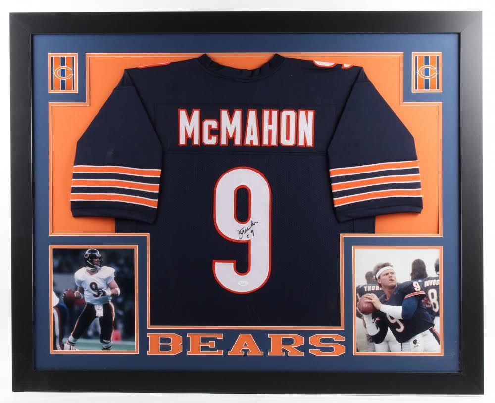 brand new 3478d a8c7a Jim McMahon Signed Bears 35x43 Custom Framed Jersey ...