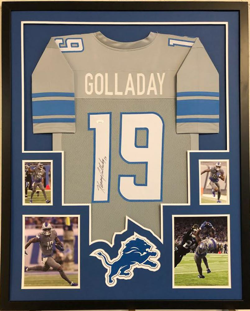 huge discount b6dbb c9a13 Kenny Golladay Signed Detroit Lions 49ers 34x42 Custom ...