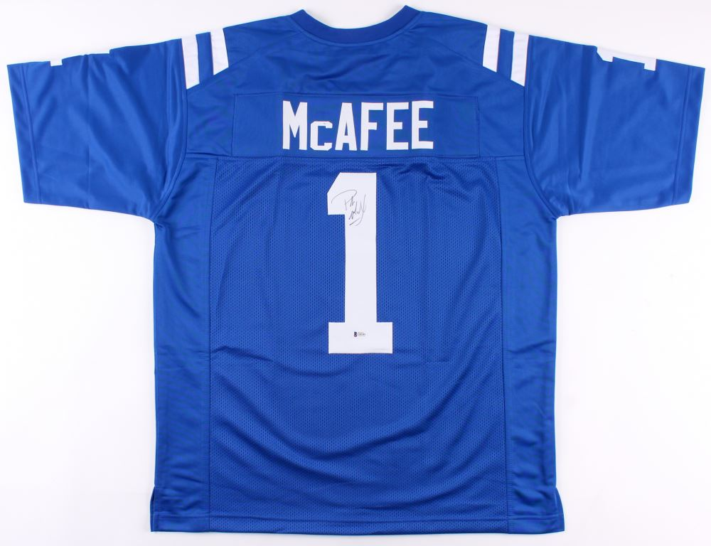 info for a7291 83895 Pat McAfee Signed Indianapolis Colts Jersey (Beckett COA)