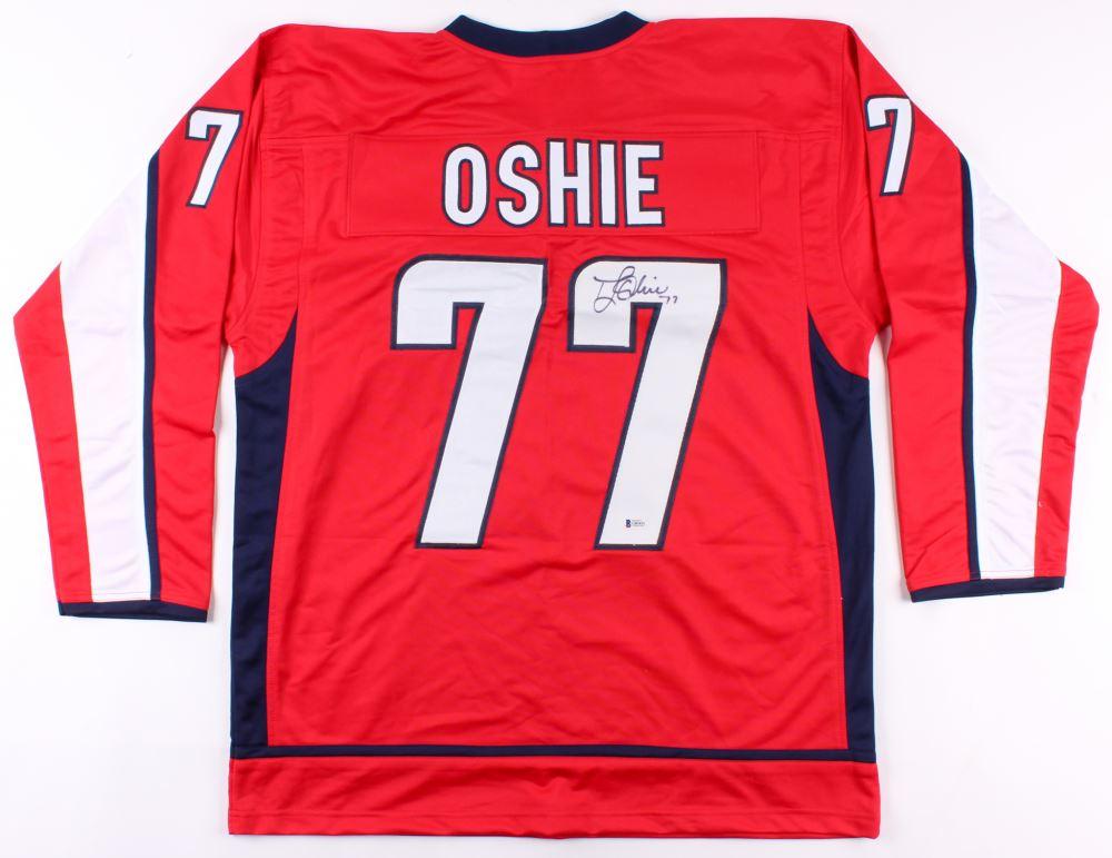 new concept e7cbf 04100 T. J. Oshie Signed Washington Capitals Jersey (Beckett COA)