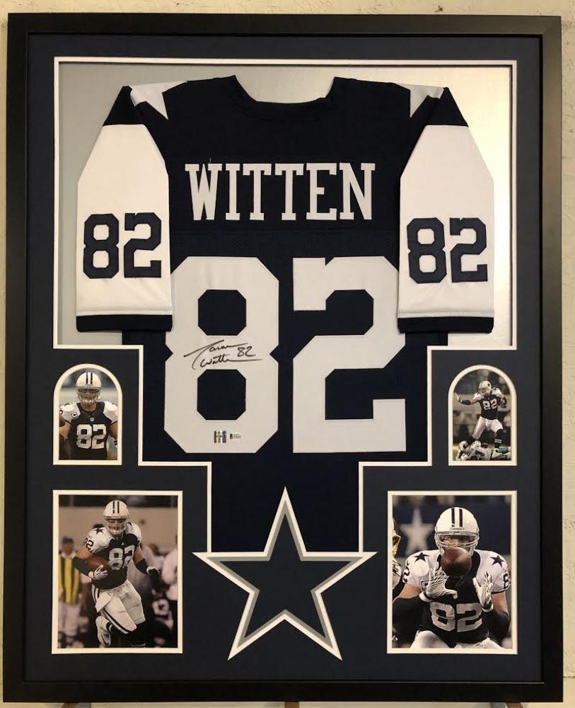 the best attitude e849d 690ba Jason Witten Signed Dallas Cowboys 34x42 Custom Framed ...