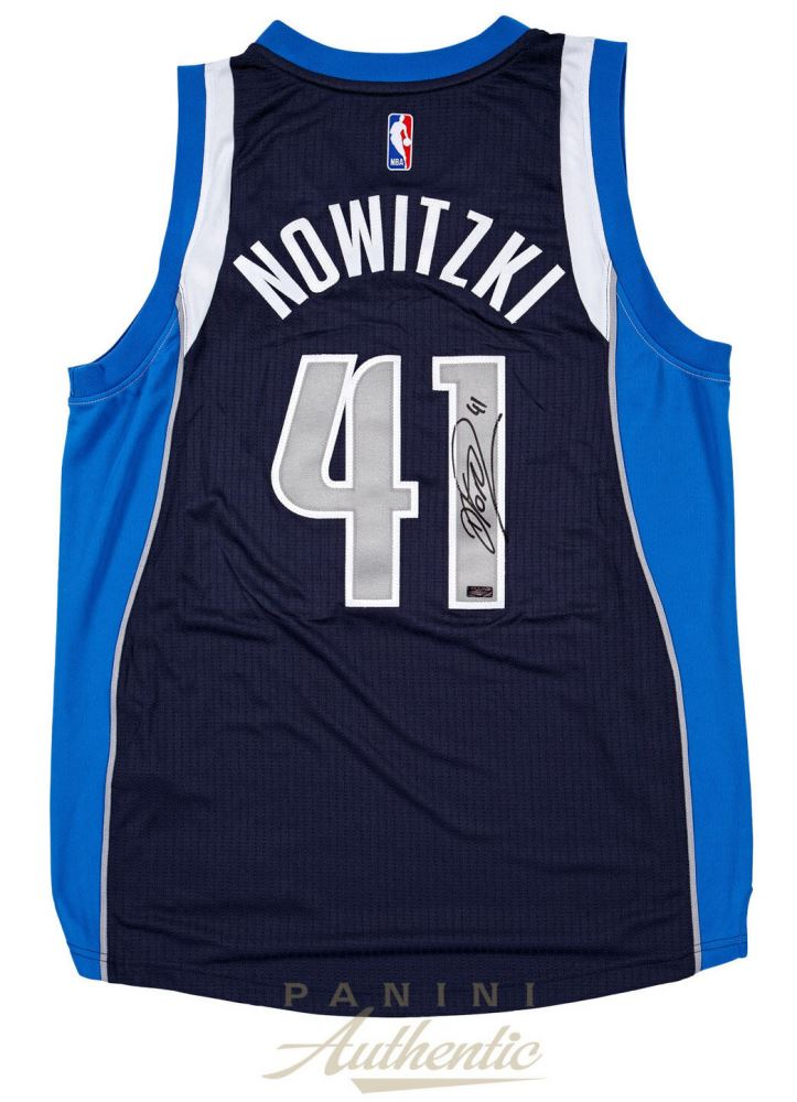 57d0876b6aa3e Dirk Nowitzki Signed Dallas Mavericks Adidas Jersey (Panini COA)