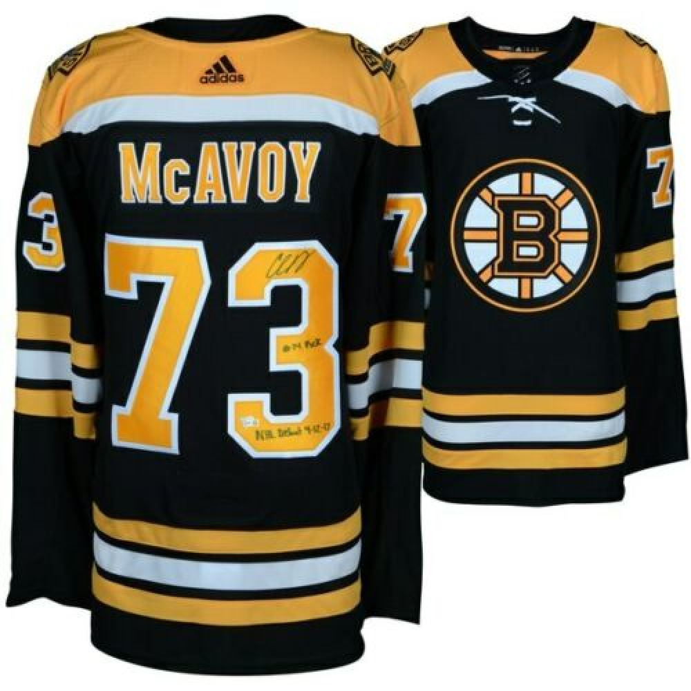 new product 890ba 77c64 Charlie McAvoy Signed LE Boston Bruins Adidas Authentic ...