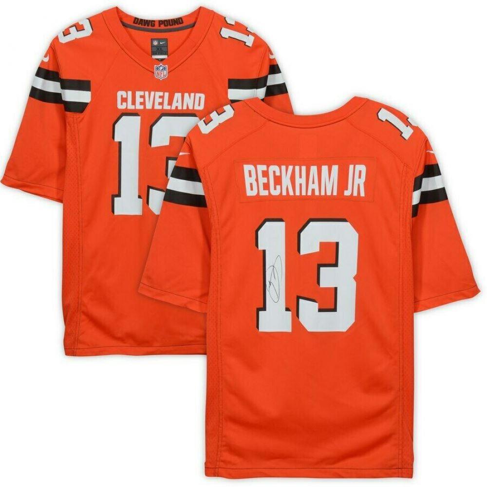 huge discount 85b3e fd927 Odell Beckham Jr. Signed Cleveland Browns Jersey (Fanatics ...