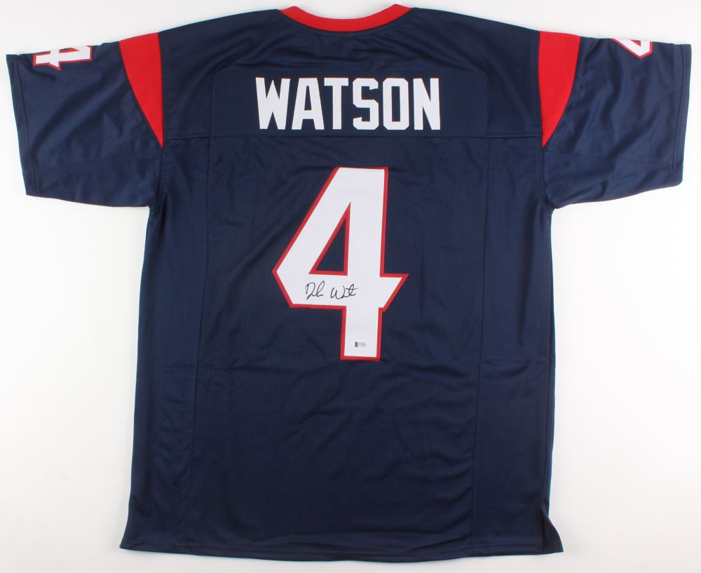 1092e298 Deshaun Watson Signed Houston Texans Jersey (Beckett COA)
